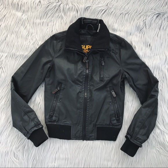 amazing price 60% clearance cheap prices SUPERDRY Black Moody Bomber Jacket